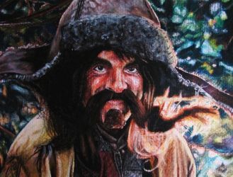 Bofur Watercolour Portrait by CurlyWurly808