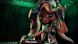 DJ Marina (Splatoon SFM Poster) by Johnny-Inkling