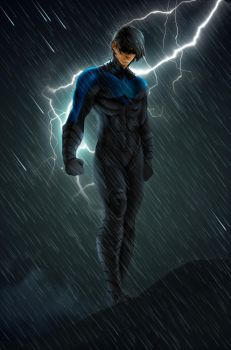 Nightwing by Hawkmccloud