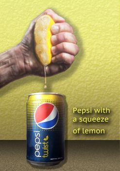 Pepsi Twist print ad by guelpacq