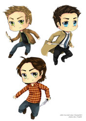 Team Free Will Chibis by vinnie-cha