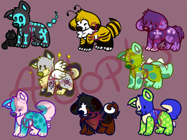 Adoptables Puppies Open! by moonlstar