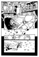 Human Torch Pg 7 inks by luisalonso