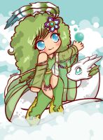 Rydia and the Mist by moonshadebutterfly
