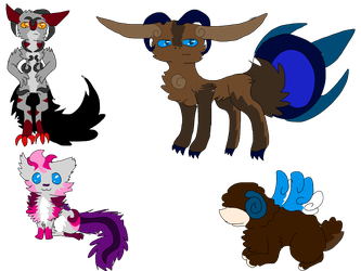Mixed Adopts (DTA+ points) by FireBurstCat