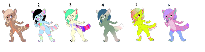 cute furry adoptables (open) by vladheart