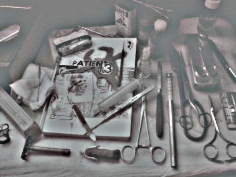 Patient 13 with surgery tools by Olafgdumvardangh