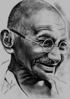 Ghandhi by Mohamed Ziou by MoZiou