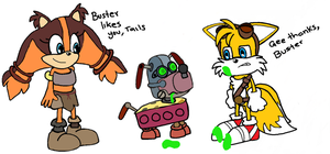 Buster!! (Sticks and Tails) by MilesPrower20