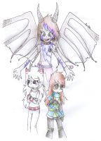 Silvia, Amelia and Topaz--Request by AnaNini