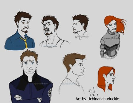 Kells' Tony, Clint, and Natasha by UchinanchuDuckie