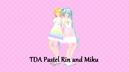 TDA Pastel Miku and Rin by Monkat89