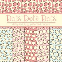Free Dots Dots Dots Patterned Papers by TeacherYanie