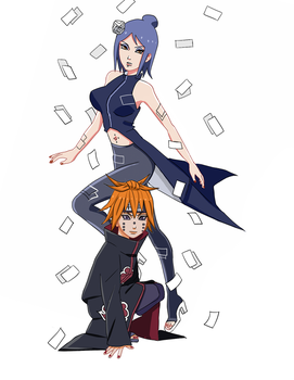 Konan and Pain ningendo aka Main. by 1-N-F-E-C-T-E-D