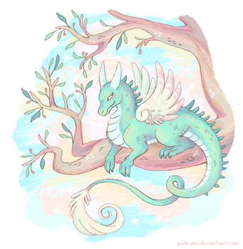 mint dragon by Paleona