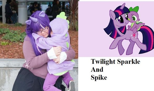 Twilight Sparkle And Spike Cosplay Lulu and Jake by MoralInsanityCosplay