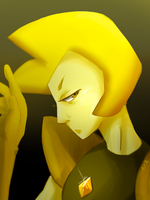 Yellow Diamond by Artist-squared