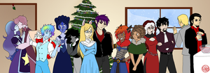 OC Christmas Party 2015 by SubduedMoon