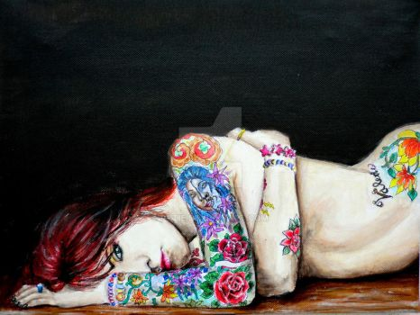 Suicide girl by Pytie
