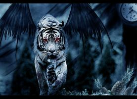 The Scary Tiger by Fahlezi