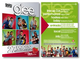 Glee Party Flyer by LGRuffa