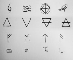 symbols by AdonaiZabaoth
