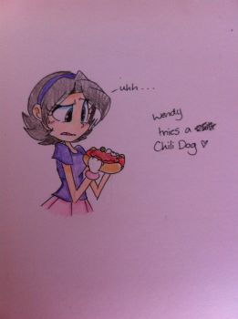 Wendy tries to eat a Chili dog by angelchibivocaloid