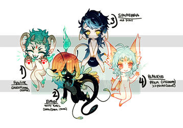 ::Adoptables:: Assorted Minis [CLOSED] by Jotaku