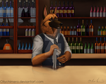 Commission - The Gentleman Bartender by OllyChimera