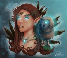 Owl Queen by RiehlART