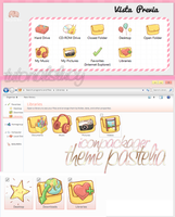 theme iconpackager pastelia by tutorialslucy