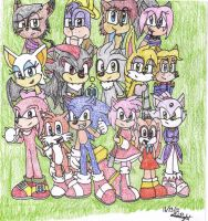 Sonic and friends by Digital-Heartbeat