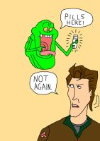 Slimer has pills by EgonEagle