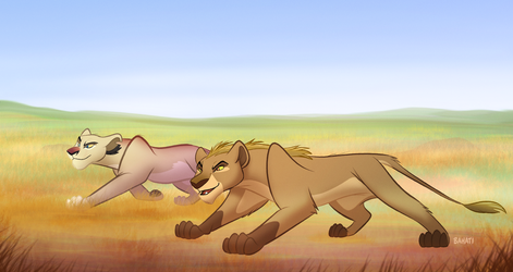 Morning Hunt by Bahati-Lioness