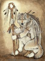 Medicine Wolf by Goldenwolf