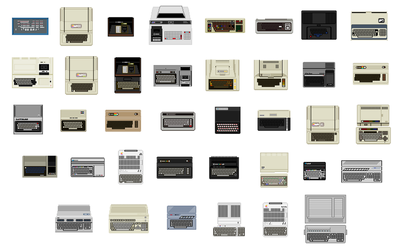 History of Home Computers pixel - zoomed by VampireSlug