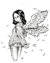 angel_bw by anchan