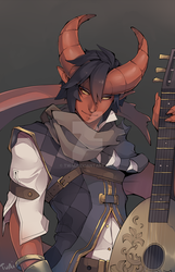 The Tiefling bard by Twai