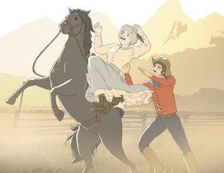Misha and the Queen in the West by raiyneofgailin