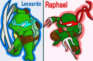 Leonardo and Raphael by koju327