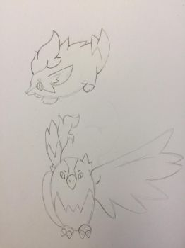 Rough Sketches of Fakemon by AntiLucky