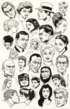 Inktober #28 Famous Faces by ColbyBluth