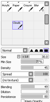 Paint Tool Sai: Cloud Brush by Viixon