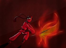 Master of fire (lego ninjago) by AafterglowEeye