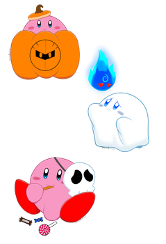 Kirby Halloween 2017 Set 1 by Seraphinae
