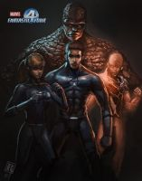 Fantastic  Four cover by RAPHTOR