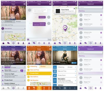 Flat apps design by netpal