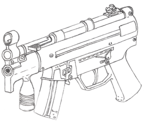 Mp5k Drawing by Fewes