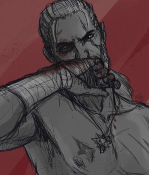 Fight Club Geralt by Tamarandom