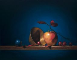 apples, grapes and brass by David-McCamant